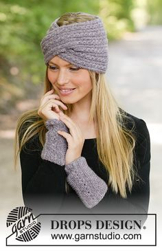 Ravelry: c The Winter Way Wrist Warmers pattern by DROPS design Drops Design, Knitting Patterns Free, Knit Patterns, Free Knitting, Knitted Gloves, Knitted Shawls, Crochet Hats, Knitted Headband Free Pattern, Mittens Pattern