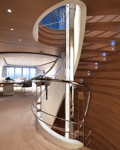 Mega Super Yacht Interior Design | Super yacht stair