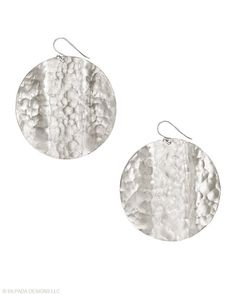Moonglow Earrings The loveliest moon phase interpreted in hammered Sterling Silver.