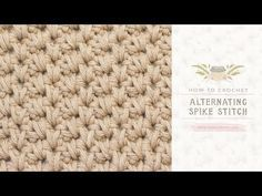 How To: Crochet The Alternating Spike Stitch | Easy Tutorial by Hopeful Honey - YouTube