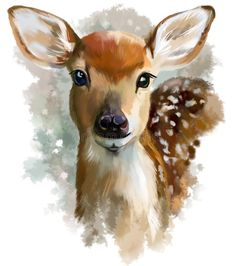 Illustration about Fawn watercolor painting in the style of grunge. Illustration of reserve, furry, wildlife - 87614848 Deer Painting, Watercolor Deer, Watercolor Art, Art Painting, Animal Art, Painting, Art, Animal Paintings, Canvas Art
