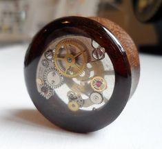 Coolest plugs EVERRR!!!   27mm Handmade Teak Wood Steampunk Plug  1 Piece by Beautificator, £33.00