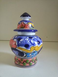 """3"""" hand-made pottery, Mexico in aaALLHouseSale_worldwideitems' Garage Sale in Kenosha , WI for $3. hand-made, hand-painted. brought back personally from Jalisco, Mexico"""