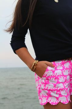 Adorable elephant shorts by Lilly Pulitzer