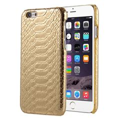[USD1.40] [EUR1.31] [GBP1.03] Snakeskin Texture Hard Back Cover Protective Back Case for iPhone 5(Gold)