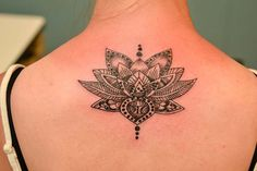 Lotus Flower tattoo. too big for my taste but i don't think the detail would come out nicely if it was shrunk down