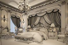 Lobby Interior, Mansion Interior, Luxury Homes Interior, Fancy Bedroom, Master Bedroom Interior, Royal Room, Mansion Bedroom, Luxury Bedroom Design, Home Building Design