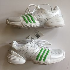 best loved e6cc2 21c8c adidas Shoes   Nib White   Green Adidas Barricade Tennis Shoes   Color   Green White   Size  9