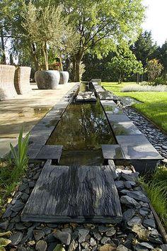 Le jardin de l'orangerie du parc de Sceaux (Hauts-de-Seine)