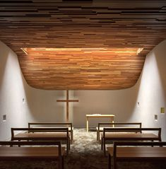 Undulating Ceiling Chapels : Prayer Chapel by Gensler