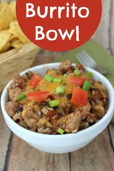 Switch up a standard burrito recipe with this easy to make burrito bowl recipe. Customize to include your favorite burrito toppings.