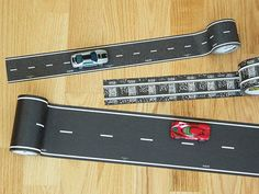 This toy road & railway tape, discovered by The Grommet, lets kids create a world for their toy cars and trains wherever they play.