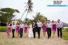 Wedding Party in Purple -Chicago Destination Wedding Photographer #hawaiiwedding #beachwedding #purplewedding #dapinkhouse