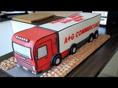 I recently made a cake for my Stepdad's birthday. He is a HGV Mechanic and so my mum asked me to make a Scania HGV cake. Here is the time lapse video sh. Jake Cake, Truck Cakes, Cake Stencil, Easy Youtube, Novelty Cakes, 50th Birthday, Birthday Cakes, Cake Tutorial, How To Make Cake