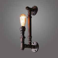 62.30$  Watch here - http://alirfc.worldwells.pw/go.php?t=32777757371 - industrial wall sconce LOFT Vintage Wall lamp E27 edison bulb iron pipe wall light stairs aisle restaurant Bar 1 light sconce