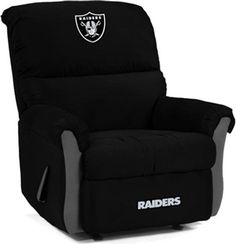 Oakland Raiders MVP Recliner-- Yep! I would use this more than him. ;)