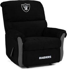 Oakland Raiders MVP Recliner-- Yep! I would use this more than him. ;)