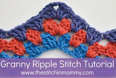 Granny Ripple Stitch Tutorial ╭⊰✿Teresa Restegui http://www.pinterest.com/teretegui/✿⊱╮