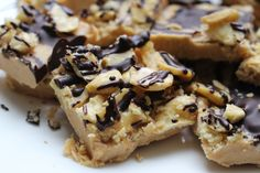 Peanut Butter Coconut Crunch Fudge | ENLIGHTENED Recipes