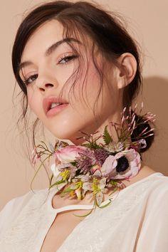the flower choker. insane arrangements and wearable art