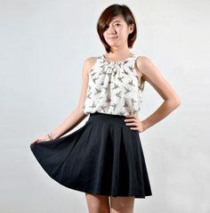Hummingbird Chiffon Top - Chic Valley Fashion Boutique RM37