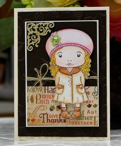 Blank card - shades of Autumn :-)  Check out more of my cards at my Etsy site