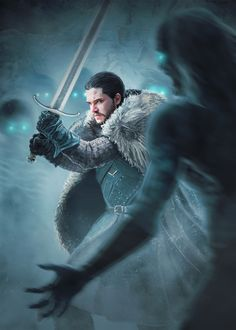 Jon Snow - Fighting with the white walkers | Tumblr