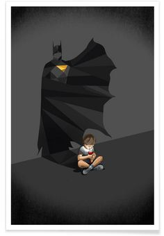 Walking Shadow - Hero 2 en Affiche premium par Jason Ratliff | JUNIQE