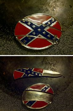 Oh my goodness for when you don't want that bulky knife in your back pocket why not keep it in your buckle.