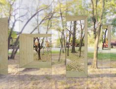 stpmj-invisible-barn-folly-2014-designboom-20eung teak lee and mi jung lim of new york-based practice STPMJ have designed an 'invisible barn', a project that was awarded a notable entry for 'folly 2014′ – a competition led by the architectural league and socrates sculpture park. the contest invites young and emerging designers to propose contemporary interpretations of the architectural folly, traditionally seen as a small-scale building or pavilion positioned within a garden or landscape