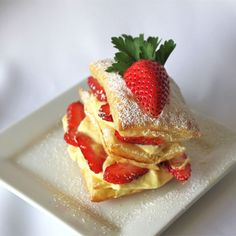 """Strawberry Napoleons I """"I was asked to bring dessert last minute, so I needed something really quick to put together, and this was minimal fuss."""""""