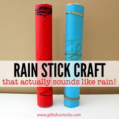 A kid-friendly rain stick craft that actually works! Your kids will love the realistic rain sounds made by these simple-to-make rain sticks.