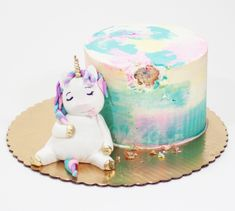 This naughty unicorn has been eating your birthday cake! Inquire today with Wh… This naughty unicorn has been eating your birthday cake! Inquire today with Whipped Bakeshop for your Philadelphia Celebration! First Birthday Cakes, Unicorn Birthday Parties, It's Your Birthday, Fat Unicorn, Unicorn Cale, Pistachio Cake, Bowl Cake, Girl Cakes, Savoury Cake