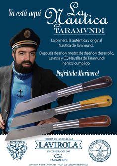 LA NAUTICA DE TARAMUNDI ya está aquí. Inédita y original. Lavirola y CQ Navallas de Taramundi en una primera colaboración excepcional. Te invitamos a verla en: www.lavirola.es/product-category/navajas-es/la-nautica-de-taramundi