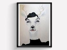 Wall Art Print 'JULIE' / poster / home decor / art / by JiabBerlin