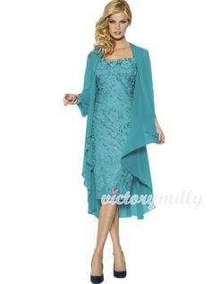 D Lace Mother The Bride Dresses Formal Gowns With Chiffon Jacket Wraps ?D Lace Mother The Bride Dresses Formal Gowns With Chiffon Jacket Wraps from the popular stores - all in one. Evening Dresses For Weddings, Lace Evening Dresses, Ball Gown Dresses, Prom Party Dresses, Evening Gowns, Evening Party, Chiffon Dresses, Prom Gowns, Dress Party