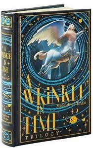 A-WRINKLE-IN-TIME-TRILOGY-MADELEINE-L-039-ENGLE-LEATHER-BOUND-GIFT-EDITION-NEW