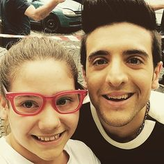 Piero sharing his glasses with a fan on tour