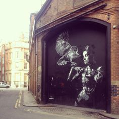 Birds of a Feather   #Manchester #art #street #style #northern #quarter #bird #woman #brickwork #wallart #spray #graffiti