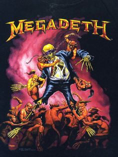 Vintage MEGADETH Shirt 1991 Dave Mustaine by sweetVTGtshirt, $125.00