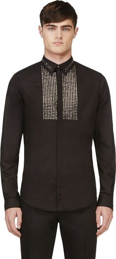 Diesel Black Gold - Black Sparbok Stud Shirt | SSENSE