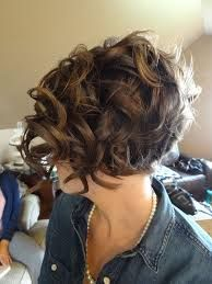 Image result for Inverted Bob Curly Short Hair