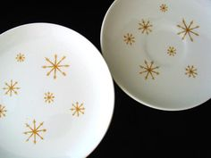 Star Glow by Royal China USA Vintage 1960s 6 Piece Set Bread