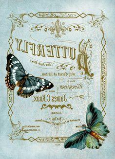 Vintage Labels, Vintage Postcards, Vintage Images, Wax Paper Transfers, Transfer Paper, Wood Transfer, Photo Transfer, Paisley Art, Decoupage Vintage