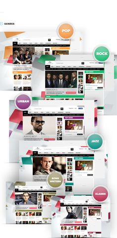 Interaction Design / Universal Music Group Germany by Rene Bieder, via Behance