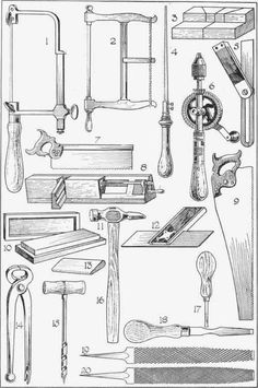 Fig. 8. Saws and various other woodworking tools.