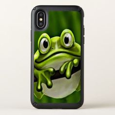Adorable Funny Cute Green Frog In Tree Speck iPhone X Case - animal gift ideas animals and pets diy customize
