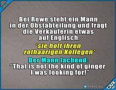 Englisch muss man können ^^' #rothaarig #ginger #Spaß #Witz #Witze