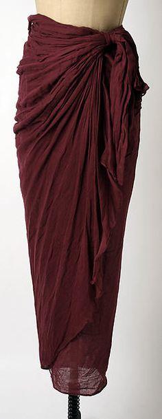 Romeo Gigli | Skirt | Italian | The Metropolitan Museum of Art
