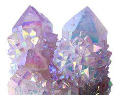 """transparentgems: """" Rainbow Aura Quartz """""""